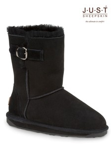 Just Sheepskin Buckle Detail Boot