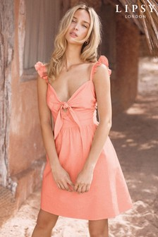 Lipsy Knot Front Beach Dress