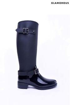 Glamorous Buckle Knee High Boots