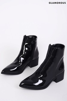 Glamorous Patent Ankle Boot