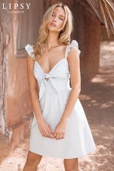 Lipsy Knot Front Beach Dress