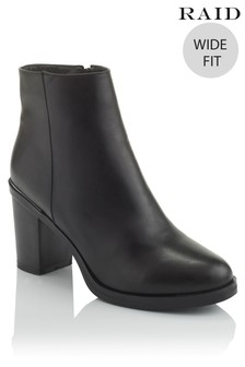 Raid Wide Fit Heeled Ankle Boots