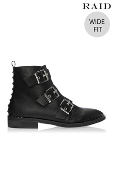 Raid Wide Fit Buckle Ankle Boots