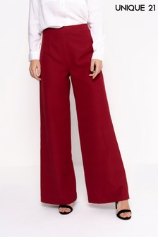Unique 21 High Waist Wide Leg Trousers