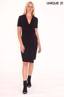 Unique 21 V neck Wrap Dress