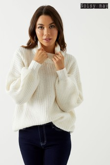 Noisy May Long Sleeve High Neck Jumper