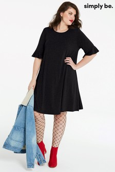 Simply Be Frill Jersey Swing Dress