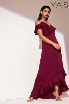 Y.A.S Off Shoulder Maxi Dress
