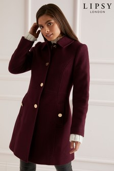 Lipsy Fitted Flare Coat