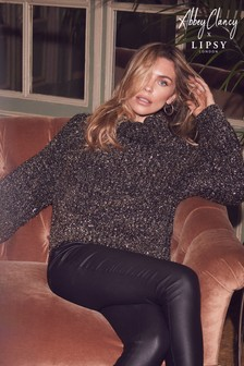 Lipsy  X Abbey Clancy Tinsel Cowl Neck Jumper
