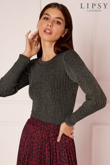 Lipsy Glitter Ribbed Jumper