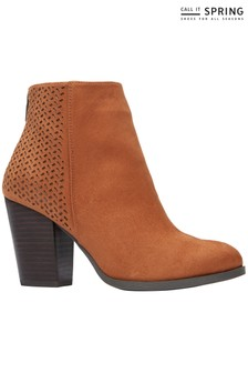 Call It Spring Ankle Zip Detail Boot