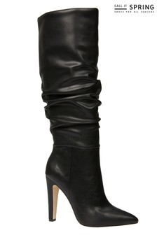 Call It Spring Knee High Heeled Boots