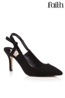 Faith Shoes Slingback Kitten Heel Court