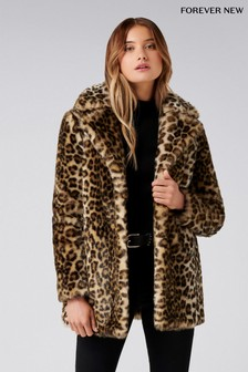 Forever New Animal Print Coat