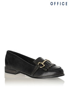 Office Fringed Snaffle Leather Loafer