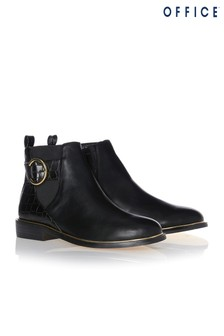 Office Ankle Boots With Buckle Detail