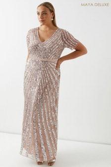 Maya Sequin Maxi Dress