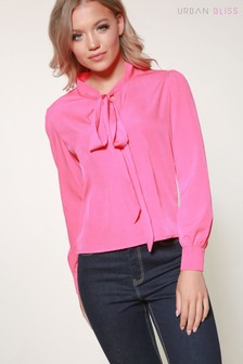 Urban Bliss Tie Neck Blouse