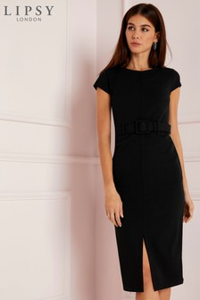 Lipsy Covered Belt Bodycon Dress