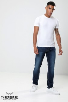Threadbare Straight Rinse Wash Jeans
