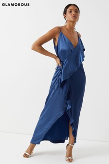 Glamorous Studio Two Tone Wrap Maxi Dress