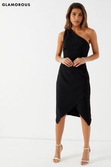 Glamorous Studio One Shoulder Midi Dress
