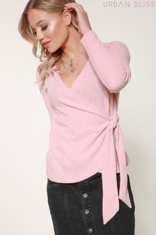 Urban Bliss Holly Wrap Knit Top