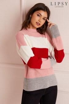 Lipsy Block Stripe Knitted Jumper