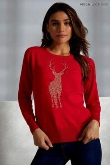 Mela London Reindeer Jumper