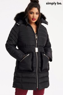 Simply Be Long Padded Jacket