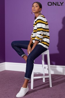 Only Long Sleeve Stripe Knit Jumper