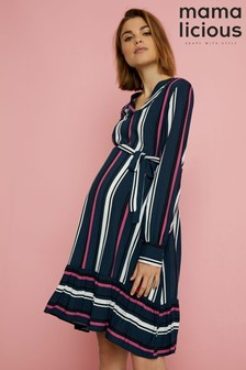 Mamalicious Maternity Long Sleeve Woven Dress