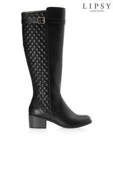 Lipsy Quilted Knee High Riding Boots