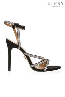 Lipsy Asymmetric Diamanté Sandals