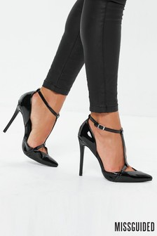 Missguided T-Bar Court Shoes