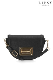 Lipsy Metal Turnlock Saddle Bag