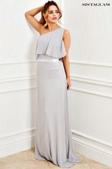 Sistaglam Frill Hem Maxi Dress