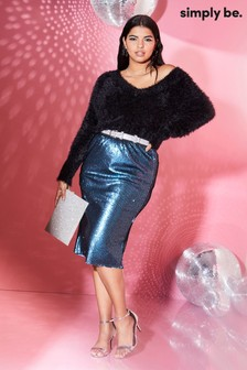 Simply Be Sequin Pencil Skirt