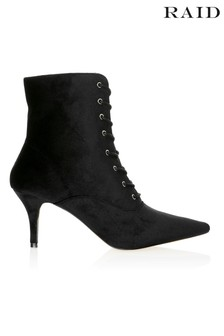 Raid Lace Up Detail Pointed Ankle Boots
