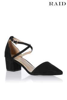 Raid Mid Block Heel with Ankle Strap