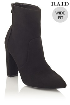 Raid Wide Fit Block Heel Ankle Boots