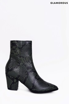 Glamorous Snake Print Ankle Boot