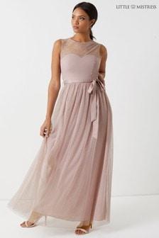 9a737543b3b9dc Little Mistress Sweetheart Mesh Maxi Dress