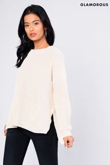 Glamorous Knitted Jumper With Split Sides