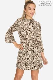 Girls On Film Leopard Print Dress