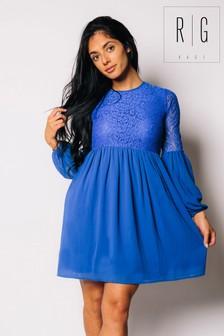 Madam Rage Chiffon Lace Skater Dress