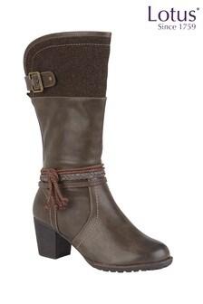 Lotus Calf Length Casual Boots