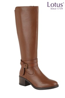 Lotus Leather Casual Comfort Boots