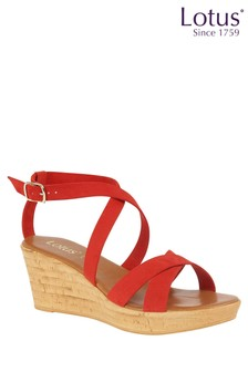 Lotus Cork Effect Sandals
